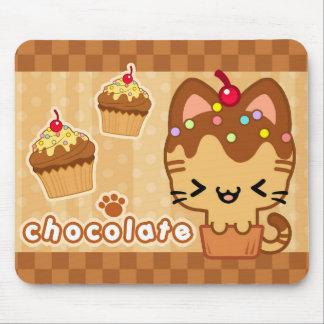 Chocolate Cupcake Kitty Mousepad