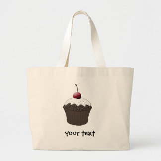 Chocolate cupcake large tote bag