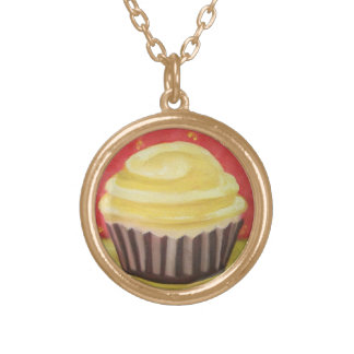 Chocolate Cupcake Necklace Traditional Modern Art