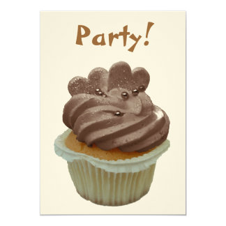 Chocolate Cupcake Party Invitation