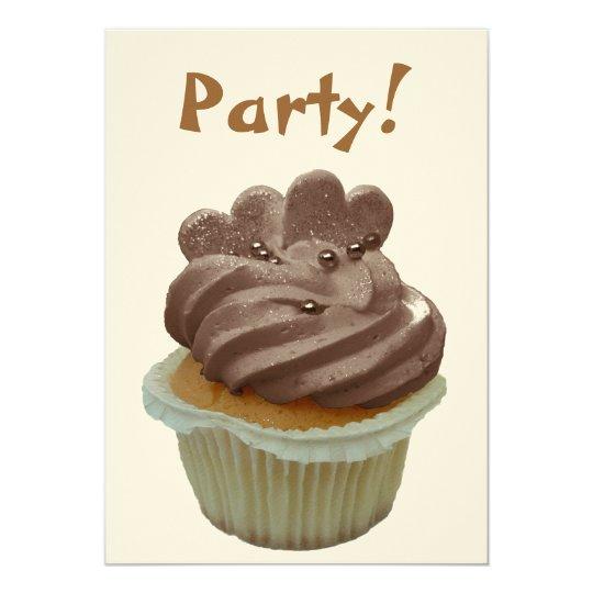 Chocolate Cupcake Party Invitation