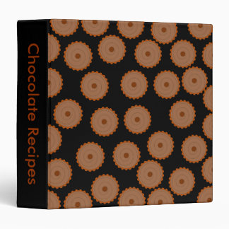 Chocolate Cupcake Pattern. 3 Ring Binder