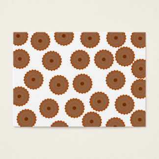 Chocolate Cupcake Pattern. Business Card