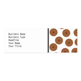 Chocolate Cupcake Pattern. Business Card Templates