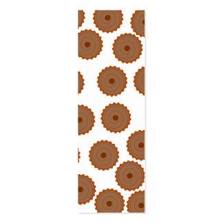 Chocolate Cupcake Pattern. Business Cards