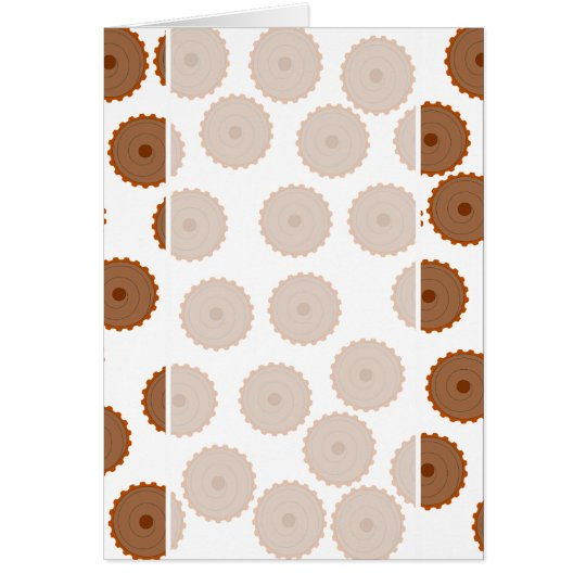 Chocolate Cupcake Pattern. Card