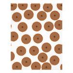 Chocolate Cupcake Pattern. Customized Letterhead