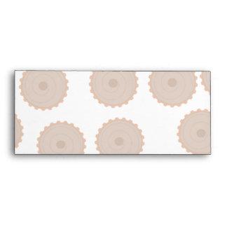 Chocolate Cupcake Pattern. Envelope