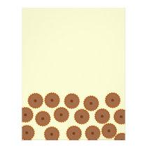 Chocolate Cupcake Pattern. Flyer
