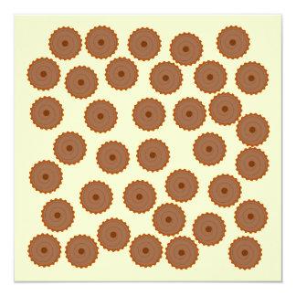 Chocolate Cupcake Pattern. Invite