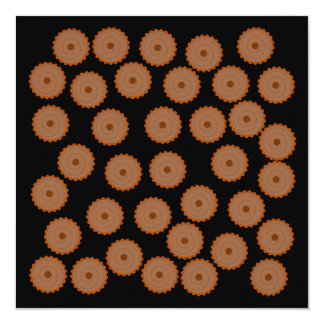 Chocolate Cupcake Pattern. Custom Invite