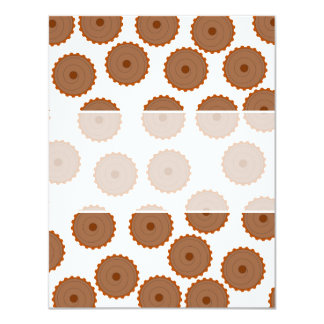 Chocolate Cupcake Pattern. Personalized Announcements