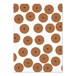 Chocolate Cupcake Pattern. Invitations