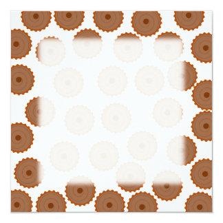 Chocolate Cupcake Pattern. Personalized Invitation