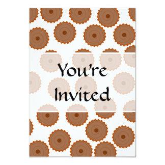 Chocolate Cupcake Pattern. 5x7 Paper Invitation Card