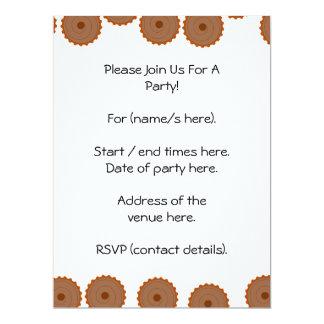 Chocolate Cupcake Pattern. 6.5x8.75 Paper Invitation Card