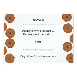 Chocolate Cupcake Pattern. 3.5x5 Paper Invitation Card