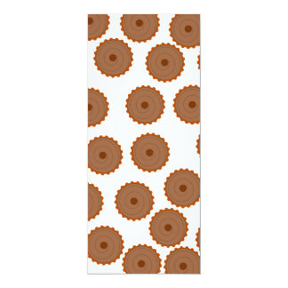 Chocolate Cupcake Pattern. Custom Announcement