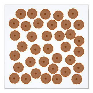 Chocolate Cupcake Pattern. Custom Announcements