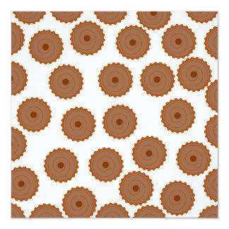 Chocolate Cupcake Pattern. Custom Invites