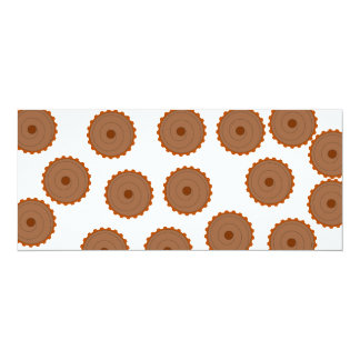 Chocolate Cupcake Pattern. Custom Invitation