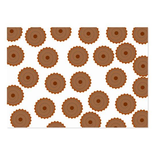 Chocolate Cupcake Pattern. Large Business Card