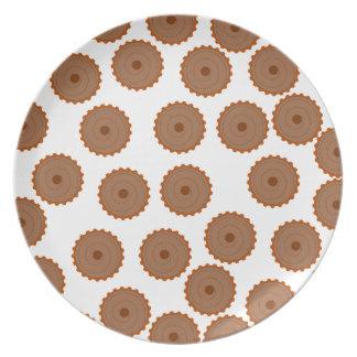 Chocolate Cupcake Pattern. Melamine Plate