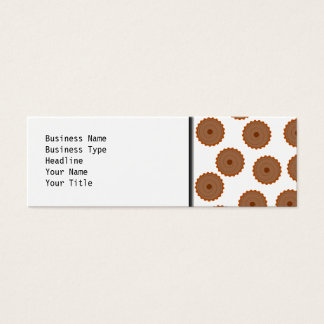 Chocolate Cupcake Pattern. Mini Business Card