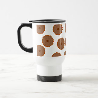 Chocolate Cupcake Pattern. Mugs