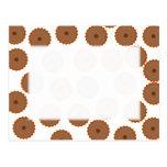 Chocolate Cupcake Pattern. Post Cards