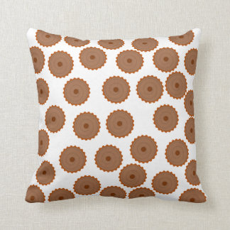 Chocolate Cupcake Pattern. Throw Pillow