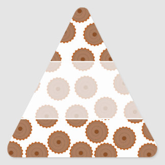 Chocolate Cupcake Pattern. Triangle Sticker
