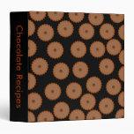 Chocolate Cupcake Pattern. Vinyl Binder