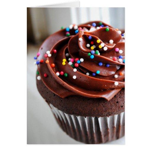 Chocolate Cupcake  Photograph Card