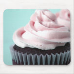 Chocolate Cupcake Pink Vanilla Frosting Mousepad