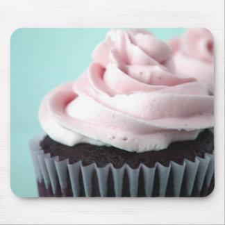 Chocolate Cupcake Pink Vanilla Frosting Mousepad