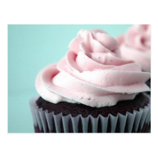 Chocolate Cupcake Pink Vanilla Frosting Postcard