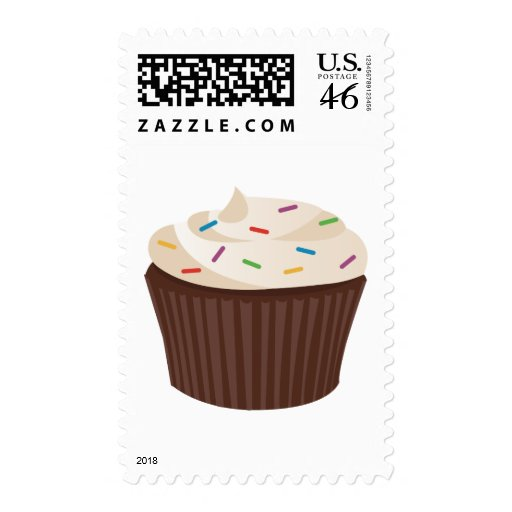 Chocolate Cupcake Postage Stamps