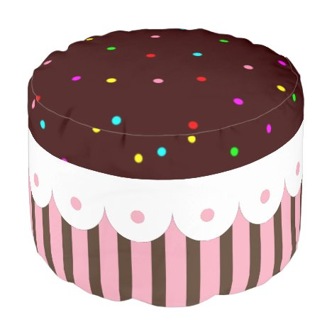 Chocolate Cupcake Pouf Ottoman Footstool Kids
