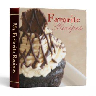 Chocolate Cupcake Sweet Desert Recipe Binder