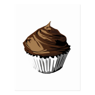 Chocolate cupcake template products postcard