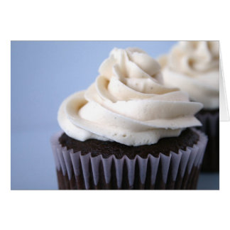Chocolate Cupcake Vanilla Frosting Stationery Note Card