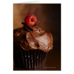 Chocolate Cupcake with a Raspberry topping Card