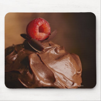 Chocolate Cupcake with a Raspberry topping Mouse Pad