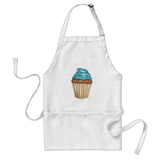 Chocolate Cupcake with blue frosting Adult Apron