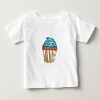 Chocolate Cupcake with blue frosting Baby T-Shirt