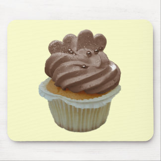 Chocolate Cupcake with Hearts Mouse Pad