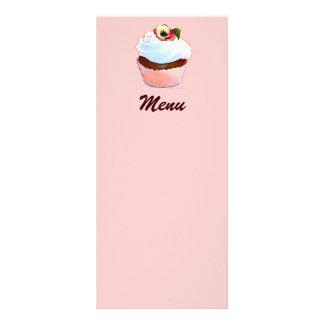 Chocolate Cupcake with Pansy Menu Rack Card Design