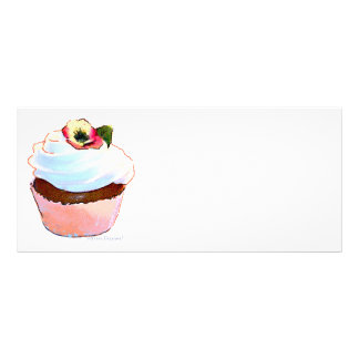 Chocolate Cupcake with Pansy Full Color Rack Card