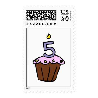 Chocolate Cupcake with Pink Frosting Postage